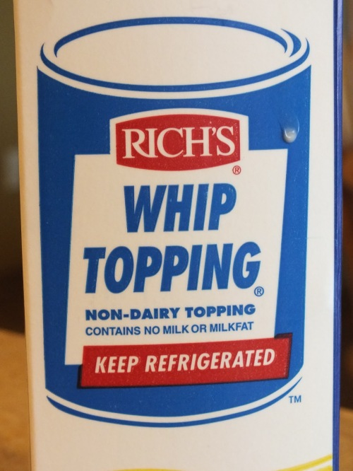 And don't forget the Rich Whip! Or you could use chilled canned coconut milk.